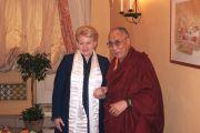 Его Святейшество Далай-лама с президентом Литвы Далей Грибаускайте. Вильнюс, Литва. 11 сентября 2013 г. Фото: офис президента Литвы