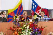Его Святейшество Далай-лама на пресс-конференции в Вильнюсе. 12 сентября 2013 г. Фото: Зимантас Морквенас