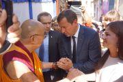 Его Святейшество Далай-лама и мэр Вильнюса Артурас Зуокас. Вильнюс, Литва. 12 сентября 2013 г. Фото: Джереми Рассел (офис ЕСДЛ)