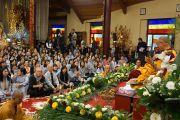 Его Святейшество Далай-лама выступает с речью во вьетнамском буддийском монастыре Вьен Зак. Ганновер, Германия. 20 сентября 2013 г. Фото: Джереми Рассел (офис ЕСДЛ)