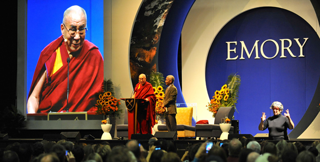 Далай-лама выступил в Атланте с лекцией «Основы ответственной гражданской позиции в Глобальной деревне 21 века»