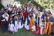 Его Святейшество Далай-лама с членами тибетской общины. Атланта, штат Джорджия, США. 9 октября 2013 г. Фото: Джереми Рассел (офис ЕСДЛ)
