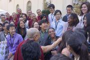 "Его Святейшество Далай-лама с членами программы ""Инициатива Китай-Тибет"" в университете Эмори. Атланта, штат Джорджия, США. 9 октября 2013 г. Фото: Джереми Рассел (офис ЕСДЛ)"