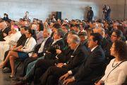 Во время выступления Его Святейшества Далай-ламы в Королевском католическом университете. Мехико, Мексика. 12 октября 2013 г. Фото: Джереми Рассел (офис ЕСДЛ)