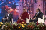 """Его Святейшество Далай-лама читает лекцию """"Искусство быть счастливым"""". Сакатекас, Мексика. 16 октября 2013 г. Фото: Джереми Рассел (офис ЕСДЛ)"""