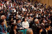 На встрече с Его Святейшеством Далай-ламой, посвященной обсуждению роли науки и технологий в Тибийском технологическом институте. Цуданума, Япония. 16 ноября 2013 г. Фото: офис ЕСДЛ