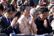 Во время проведения межконфессионального молебна на холме Нихондара. Сидзуока, Япония. 22 ноября 2013 г. Фото: Тибетский офис в Японии.