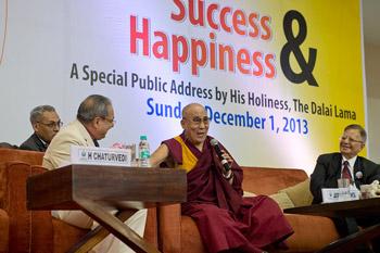 Далай-лама прочел публичную лекцию «Успех и счастье» в Институте технологий управления им. Бирлы