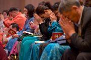 Участники учений Его Святейшества Далай-ламы для буддистов из Монголии. Дели, Индия. 3 декабря 2013 г. Фото: Тензин Чойджор (офис ЕСДЛ)