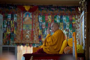 Шестой день учений Далай-ламы по ламриму в Сера Чже