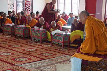 Седьмой день учений Далай-ламы по ламриму в монастыре Сера Чже