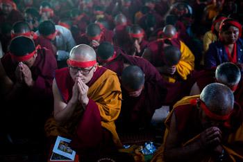 Заключительный день учений Далай-ламы по ламриму в монастыре Сера Чже