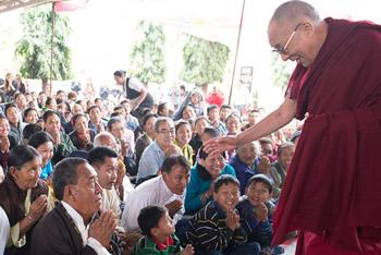 Далай-лама прибыл в Гондию с трехдневным визитом