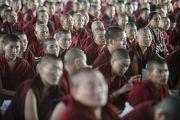 Некоторые из более чем 19 тысяч монахов на учениях Его Святейешства Далай-ламы в монастыре Сера Чже. Билакуппе, штат Карнатака, Индия. 30 декабря 2013 г. Фото: Тензин Чойджор (офис ЕСДЛ)
