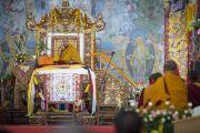 Зкалючительный день учений Его Святейшества Далай-ламы в монастыре Сера Чже. Билакуппе, штат Карнатака, Индия. 3 января 2014 г. Фото: Тензин Чойджор (офис ЕСДЛ)