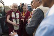 Его Святейшество Далай-лама прибыл в Нагалоку. Нагпур, штат Махараштра, Индия. 8 января 2014 г. Фото: Тензин Чойджор (офис ЕСДЛ)