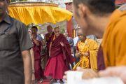 Его Святейшество Далай-лама в монастыре Ньингма в тибетском поселении в Бандаре. Штат Махараштра, Индия. 11 января 2014 г. Фото: Тензин Чойджор (офис ЕСДЛ)
