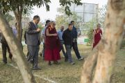 Его Святейшество Далай-лама в резиденции губернатора штата в Райпуре. Штат Чаттисгарх, Индия. 15 января 2014 г. Фото: Тензин Чойджор (офис ЕСДЛ)