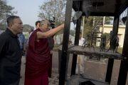 Его Святейшество Далай-лама в парке Раджива Ганди в Райпуре. Штат Чаттисгарх, Индия. 15 января 2014 г. Фото: Тензин Чойджор (офис ЕСДЛ)
