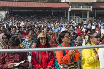 Далай-лама выступил с публичной лекцией о гуманном подходе к построению мира и посетил Фестиваль Тибета