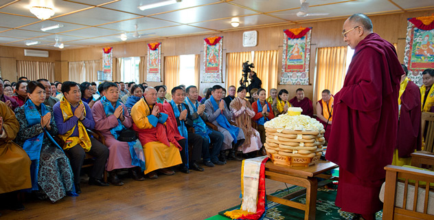 Его Святейшество Далай-лама встретился с монголами в Дхарамсале