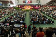 Вид на зал в университете Санта-Клары, где проходили мероприятия с участием Его Святейшества Далай-ламы. Штат Калифорния, США. 24 февраля 2014 г. Фото: Charles Barry