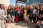Его Святейшество Далай-лама и студенты университета Санта-Клары. Штат Калифорния, США. 24 февраля 2014 г. Фото: Charles Barry
