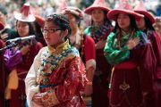 Молодые тибетцы исполняют государственный гимн Тибета в начале празднования тибетского нового года в Аугсбургском колледже в Миннеаполисе. Штат Миннесота, США. 2 марта 2014 г. Фото: Stephen Geffre