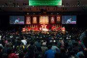 Вид на сцену в зале колледжа Огсбург во время празднования тибетского нового года. Миннеаполис, штат Миннесота, США. 2 марта 2014 г. Фото: Stephen Geffre