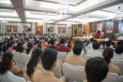 """Большой зал в гостинице """"Тадж-Махал"""", где состоялась встреча Его Святейшества Далай-ламы со школьниками. Дели, Индия. 22 марта 2014 г. Фото: Тензин Чойджор (офис ЕСДЛ)"""