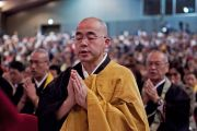 Японские монахи на учениях Его Святейшества Далай-ламы. Коясан, Япония. 13 апреля 2014 г. Фото: Тибетский офис в Японии