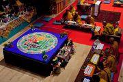 Его Святейшество Далай-лама и старшие монахи проводят подготовительные ритуалы для посвящения Вайрочаны Абхисамбодхи. Коясан, Япония. 14 апреля 2014 г. Фото: Тибетский офис в Японии