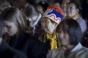 Из примерно 4000 человек, собравшихся на учений Его Святейшества Далай-ламы, более тысячи паломников приехали из России. Рига, Латвия. 5 мая 2014 г. Фото: Тензин Чойджор (офис ЕСДЛ)
