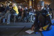 На учения Его Святейшества Далай-ламы для стран Балтии и России собрались около 4000 человек. Рига, Латвия. 5 мая 2014 г. Фото: Тензин Чойджор (офис ЕСДЛ)