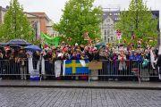 На улицах Осло восторженно встречают Его Святейшество Далай-ламу. 7 мая 2014 г. Фото: Дежерми Рассел (офис ЕСДЛ)