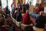 Его Святейшество Далай-лама встречается с представителями групп поддержки Тибета. Роттердам, Голландия. 12 мая 2014 г. Фото: Джереми Рассел (офис ЕСДЛ)