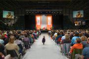 """Стадион """"Фрапорт"""", место проведение лекции Его Святейшества Далай-ламы """"Сострадание и самоосознанность"""". Франкфурт, Германия. 14 мая 2014 г. Фото: Manuel Bauer"""