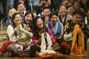 На встрече Его Святейшества Далай-ламы с тибетцами, живущими в Германии и сопредельных странах, в Музее современного искусства. Франкфурт, Германия. 15 мая 2014 г. Фото: Manuel Bauer
