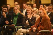 """Во время выступления Его Святейшества Далай-ламы на встрече, организованной группой """"Друзья для друга"""". Франкфурт, Германия. 16 мая 2014 г. Фото: Manuel Bauer"""