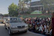 Его Святейшество Далай-лама прибыл в Тибетскую детскую деревню. Дхарамсала, Индия. 6 июня 2014 г. Фото: Тензин Чойджор (офис ЕСДЛ)