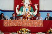 Его Святейшество Далай-лама на пресс-конференции в Институте ламы Цонкапы в Помае. Тоскана, Италия. 12 июня 2014 г. Фото: Оливье Адам