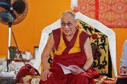 Его Святейшество Далай-лама на месте будущего монастыря Лунгток Чойкорлинг в Помае. Тоскана, Италия. 13 июня 2014 г. Фото: FilmPRO