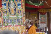 Заключительный день учений Его Святейшества Далай-ламы в Падуме. Посвящение Авалокитешвары. Занскар, штат Джамму и Кашмир, Индия. Фото: Тензин Чойджор (офис ЕСДЛ)
