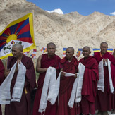 Его Святейшество Далай-лама приехал из Леха в монастырь Ликир