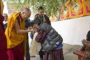 Его Святейшество Далай-лама прибыл в храм Джокханг в Лехе. Ладак, штат Джамму и Кашмир, Индия. 29 июня 2014 г. Фото: Тензин Чойджор (офис ЕСДЛ)