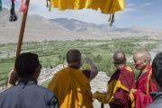 Его Святейшество Далай-лама в монастыре Петхуб в Лехе. Ладак, штат Джамму и Кашмир, Индия. 29 июня 2014 г. Фото: Тензин Чойджор (офис ЕСДЛ)