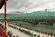Во время подготовительных ритуалов в первый день учений Калачакры шел проливной дождь. Лех, Ладак, штат Джамму и Кашмир, Индия. 3 июля 2014 г. Фото: Мануэль Бауэр