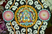 Фрагмент масляной скульптуры, украшающей одно из подношений, приготовленных для посвящения Калачакры. Лех, Ладак, штат Джамму и Кашмир, Индия. 9 июля 2014 г. Фото: Мануэль Бауэр.
