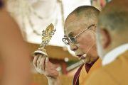 Его Святейшество Далай-лама дарует посвящение Калачакры. Лех, Ладак, штат Джамму и Кашмир, Индия. 12 июля 2014 г. Фото: Мануэль Бауэр.