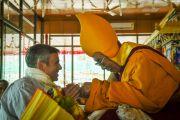Главный министр штата Дажмму и Кашмир Омар Абдуллах и Его Святейшество Далай-лама в заключительный день 33-го учения Калачакры. Лех, Ладак, штат Джамму и Кашмир, Индия. 13 июля 2014 г. Фото: Мануэль Бауэр.